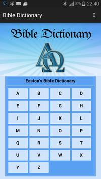 English Bible Dictionary poster