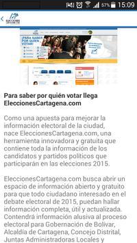 Elecciones Cartagena apk screenshot