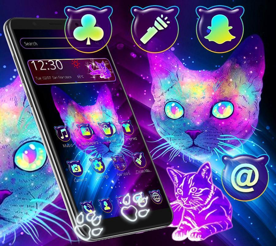 Colorido Tema De Gato De Neón For Android Apk Download