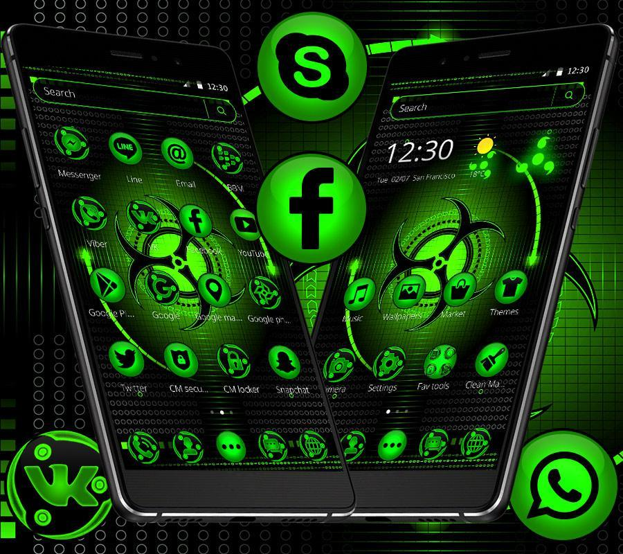 Neon Green Light Technology Theme For Android Apk Download