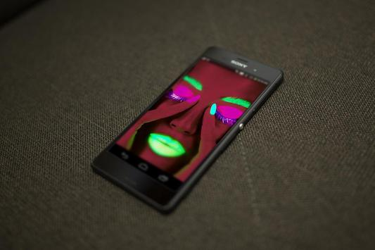 Neon Face HD Live Wallpaper apk screenshot