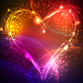 neon hearts live wallpaper icon