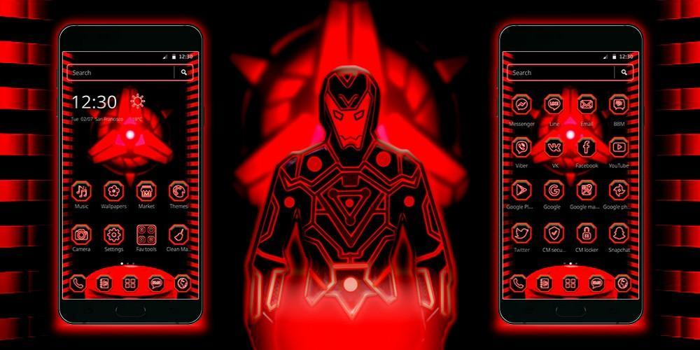 Neon Red Iron Man Theme for Android - APK Download