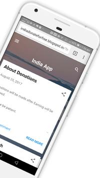 Indidaan - Help our India for free apk screenshot