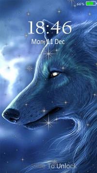 Neon Wolf Live Wallpaper Lock Screen Screenshot 11