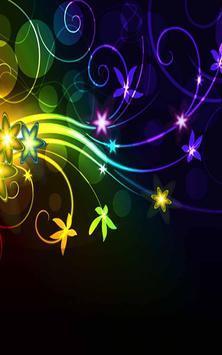 Neon Flower Wallpaper Apk Screenshot