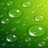 Neon Green Water Drops Lock Sc icon