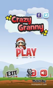 Crazy Granny - Object dropper poster