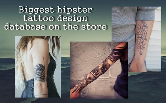 Hipster tattoo poster