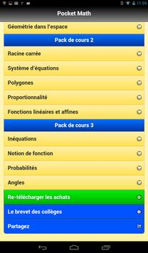 Pocket Math 3ème screenshot 9