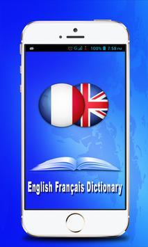 English Francais Dictionary poster