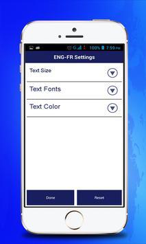 English Francais Dictionary apk screenshot