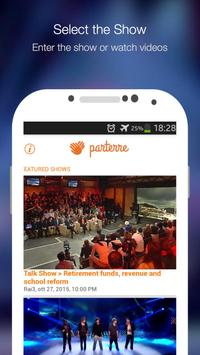 Parterre - TV second screen Plakat