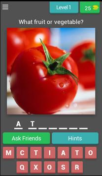 Guess! Fruits and vegetables poster
