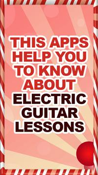 Electric Guitar Lessons Help poster