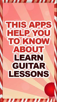 Learn Guitar Lessons Help poster
