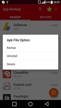Application Backup & Restore screenshot 1