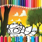 Coloring Chibi icon