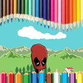 Coloring DeadpooL icon