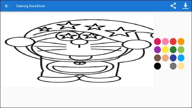 Coloring Dora Emon screenshot 2