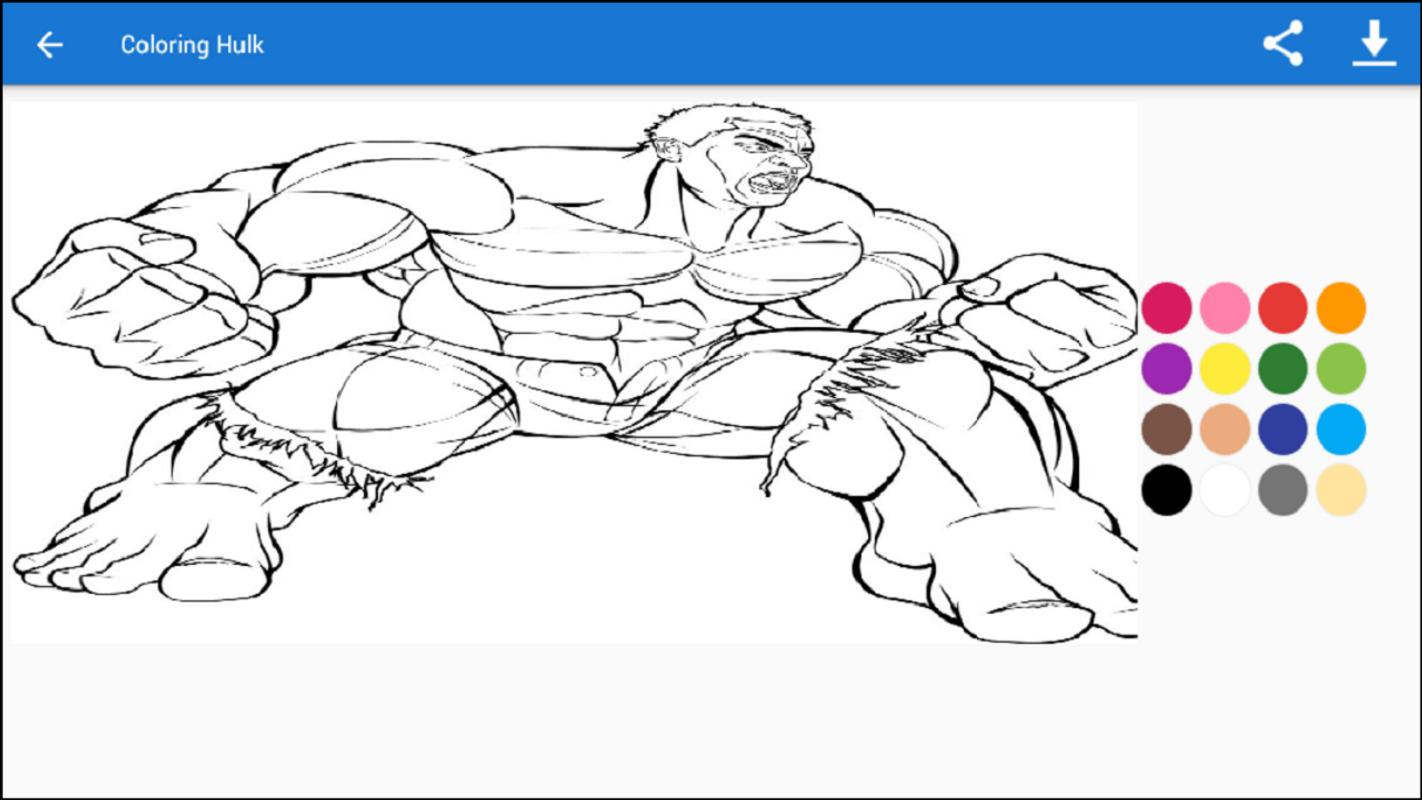 Coloring Hulk For Android Apk Download