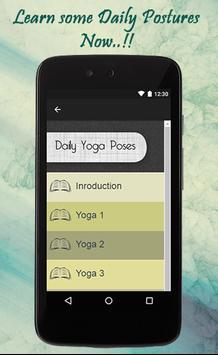 Daily Yoga Poses Guide screenshot 1