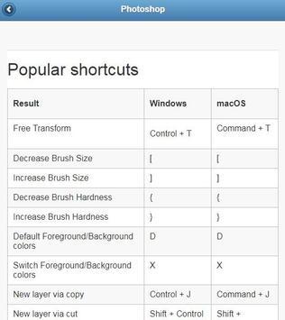 Keyboard Shortcuts screenshot 4