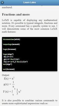 LaTeX Tutorial screenshot 2