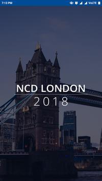 NCD London 2018 poster