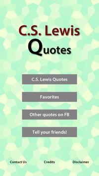 C.S. Lewis Quotes poster