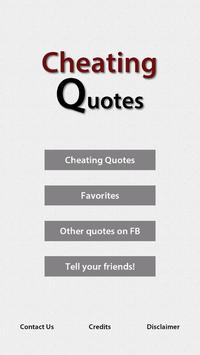 Cheating Quotes poster