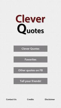 Clever Quotes poster