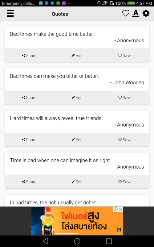 Bad Times Quotes For Android Apk Download