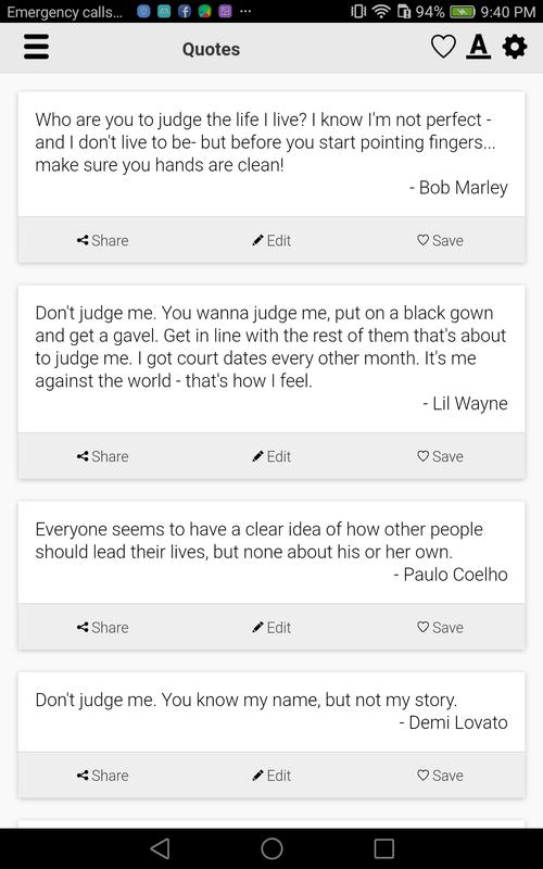 Dont Judge Me Quotes For Android Apk Download