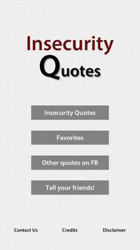 Insecurity Quotes poster