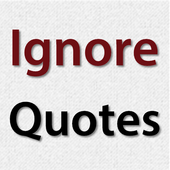 Ignore Quotes icon