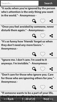 Ignore Quotes apk screenshot