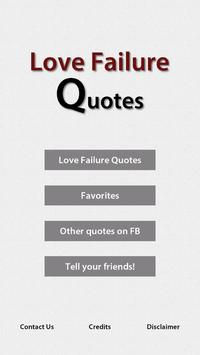 Love Failure Quotes poster