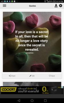 Secret Love Quotes poster