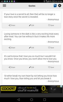 Secret Love Quotes apk screenshot
