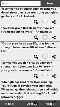 Strong Quotes apk screenshot