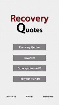 Recovery Quotes poster
