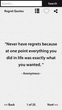 Regret Quotes apk screenshot