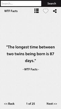 WTF Facts apk screenshot