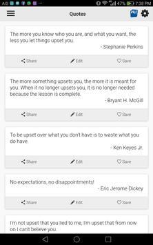 Upset Quotes screenshot 1