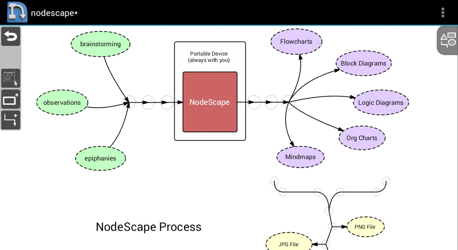 ... NodeScape Free - Diagram Tool apk screenshot