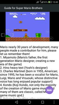 Guide for Super Mario Brothers screenshot 2