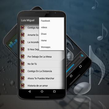LUIS MIGUEL Canciones-Letras Contigo Aprendí apk screenshot