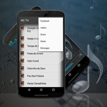 Musica MC TH Coração Tá gelado Letras apk screenshot