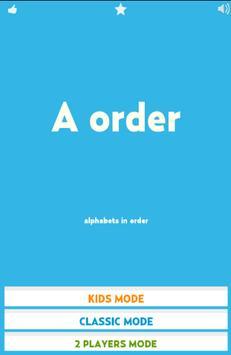 Alphabet in Order poster